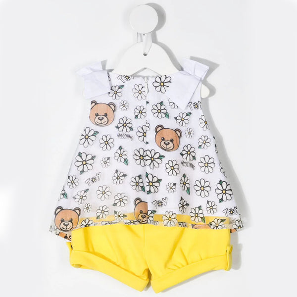 Baby Girls White T-Shirt & Shorts Set