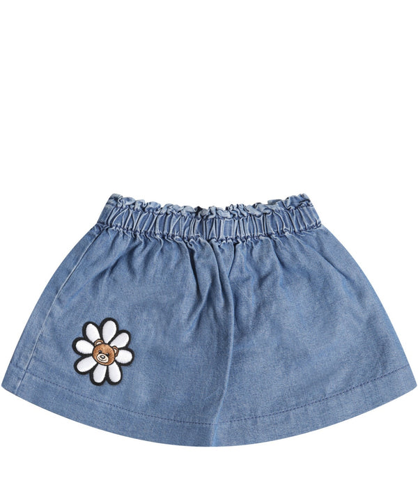 Baby Girls Blue Skirt