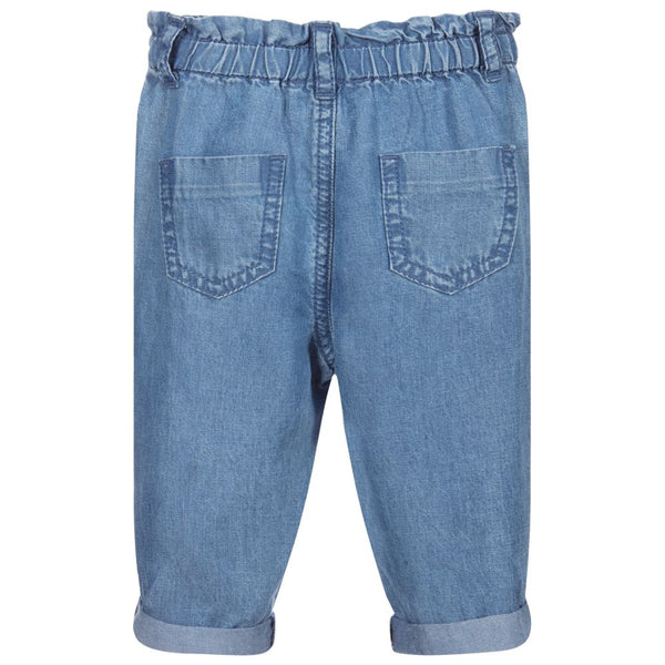 Baby Girls Blue Long Trousers