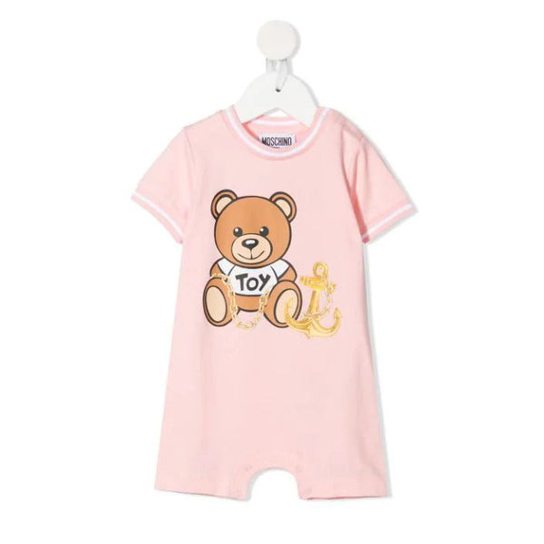 Baby Boys & Girls Pink Logo Romper