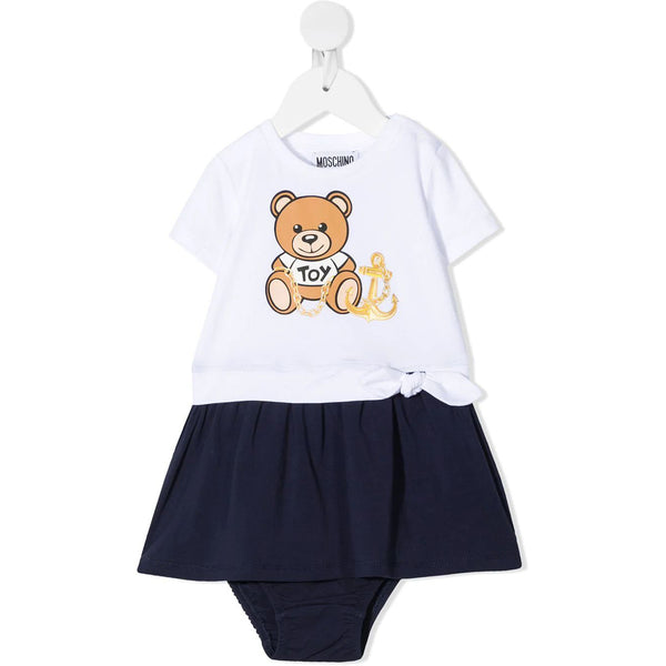 Baby Girls Navy Toy Cotton Dress