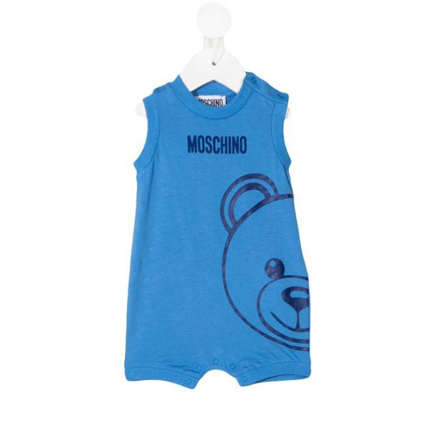 Baby Boys & Girls Blue Cotton Romper