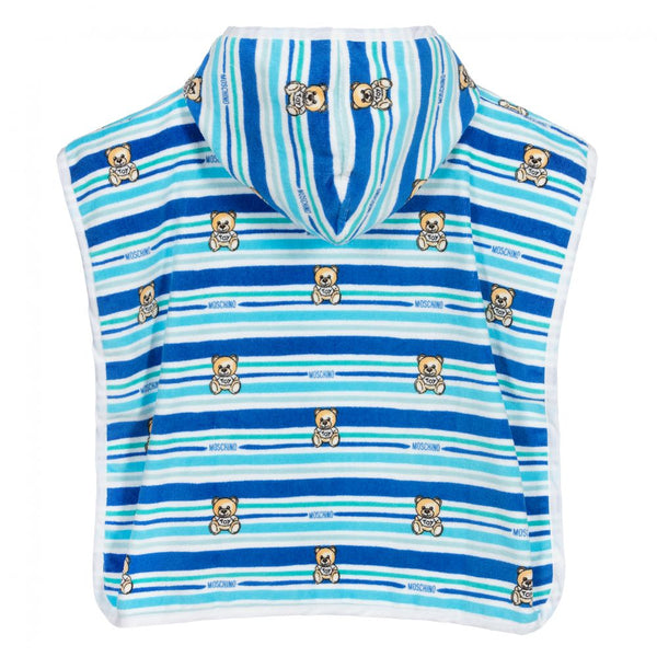 Boys & Girls Blue Stripe Cotton Bathrobe