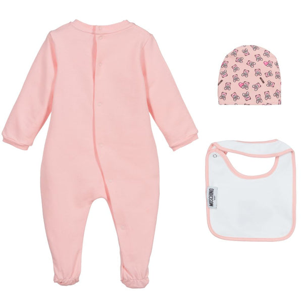 Baby Girls Sugar Rose Cotton Babysuit Set