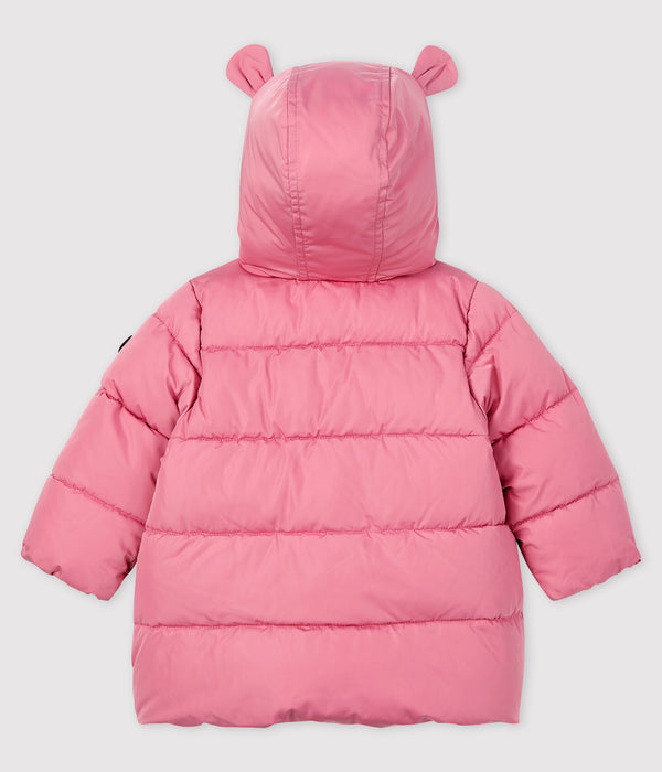 Baby Girls Pink Padded Down Coat