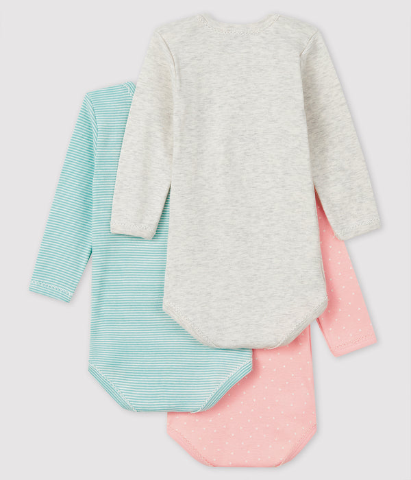 Baby Girls Multicolor Cotton Babysuit Sets