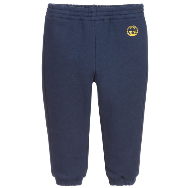 Baby Boys Navy Cotton Trousers