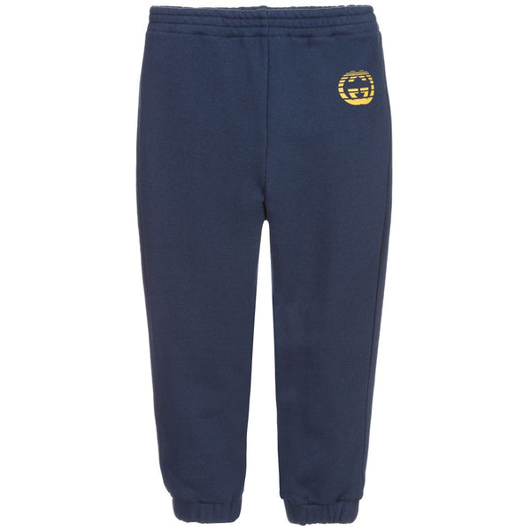Boys & Girls Blue Cotton Trousers