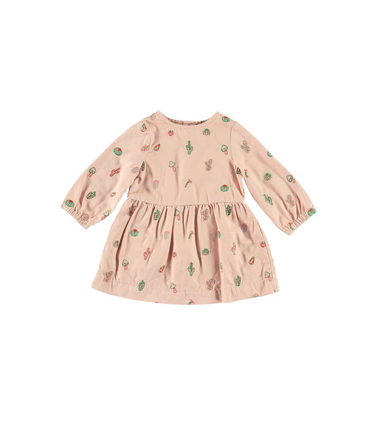 Baby Boys Pink Embroidered Cotton Dress