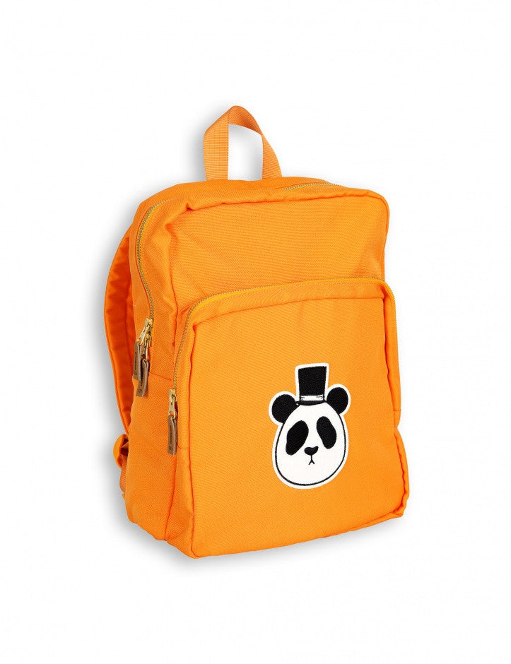 Boys & Girls Orange Panda Printed Backpack