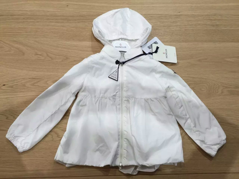 Baby Girls White Hooded 'Regine' Zip-Up Tops - CÉMAROSE | Children's Fashion Store