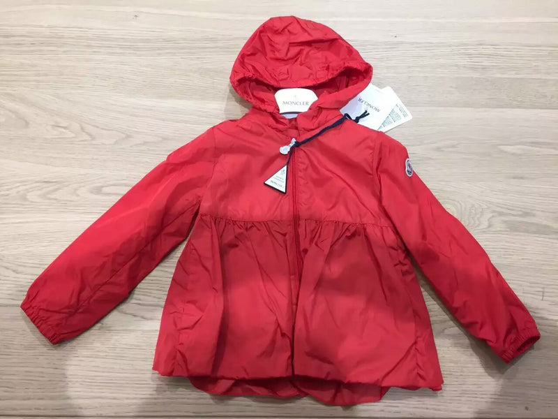 Baby Girls Red Hooded  'Regine' Zip-Up Tops - CÉMAROSE | Children's Fashion Store