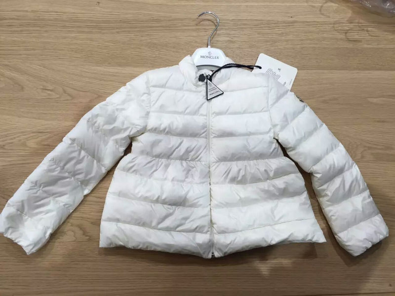 Baby Girls White Down Padded Ribbed 'Joelle' Jacket - CÉMAROSE | Children's Fashion Store