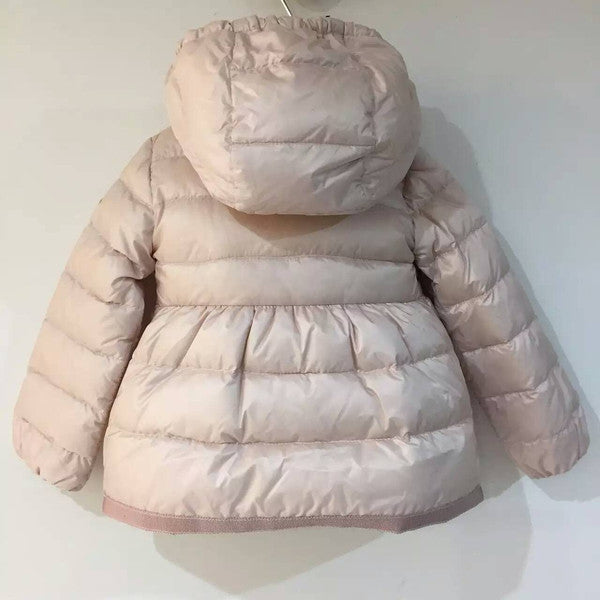 Baby Girls Light Pink Down Padded Jacket With Embroidered Edge - CÉMAROSE | Children's Fashion Store - 2