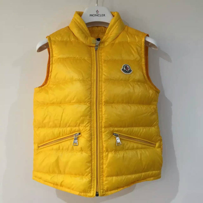 Boys Yellow Down Padded 'Gui' Gilet - CÉMAROSE | Children's Fashion Store - 1