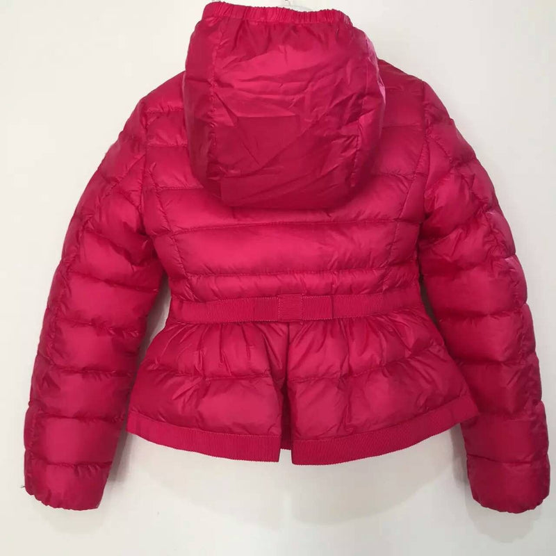 Girls Rose Red Down Padded Hooded 'Alose' Jacket - CÉMAROSE | Children's Fashion Store - 2