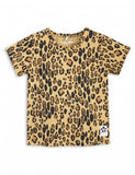 Girls Beige Basic Leopard T-shirt