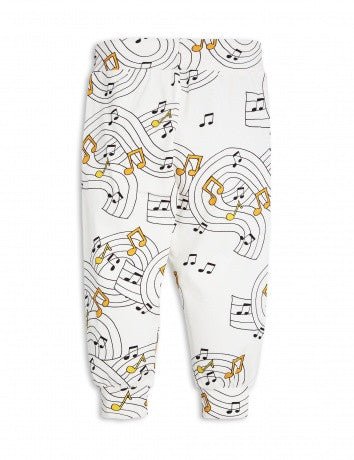 Boys & Girls Ivory Music Notes Printed Tracksuit Trousers