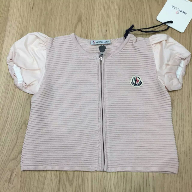 Girls Bright Pink Striped Knitted Sleeveless Cardigan - CÉMAROSE | Children's Fashion Store