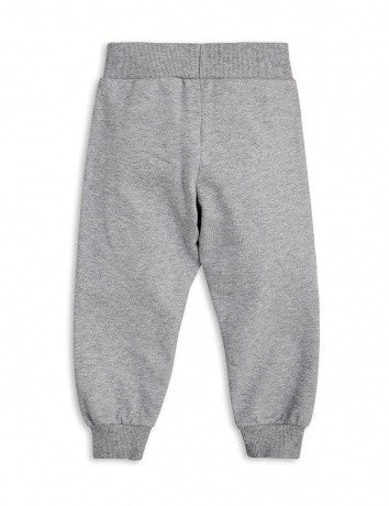 Girls Grey Rose Printed Sweatpants