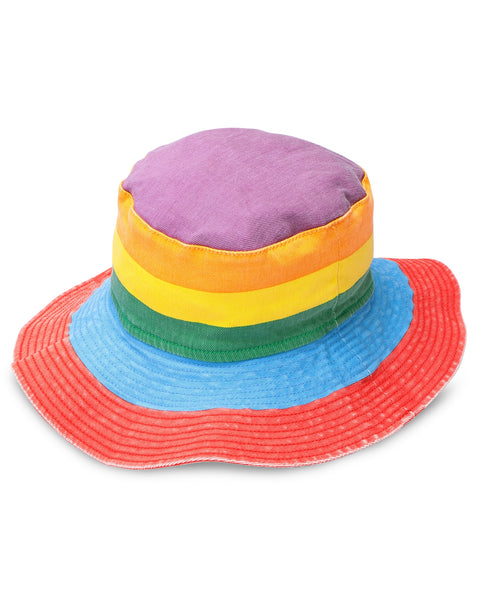 Girls Rainbow Denim Hat