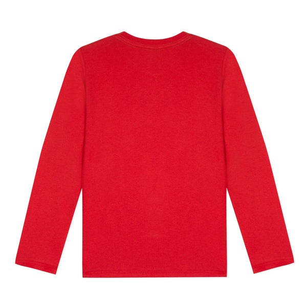 Boys Red Car Cotton Top