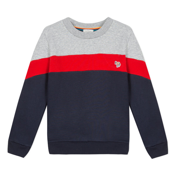 Boys Navy Cotton Sweatshirt