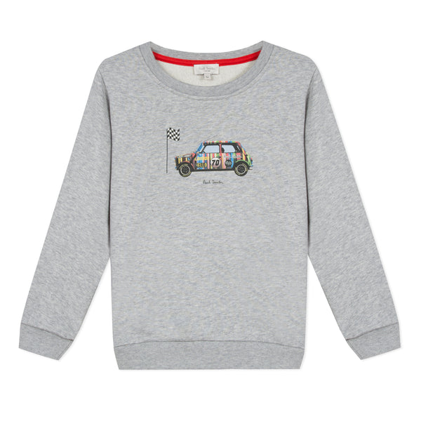 Boys Grey Cotton Sweatshirt
