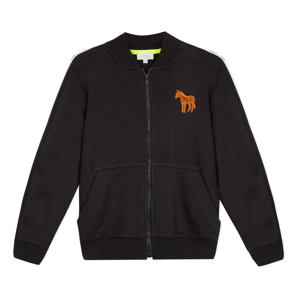 Boys Black Cotton Cardigan