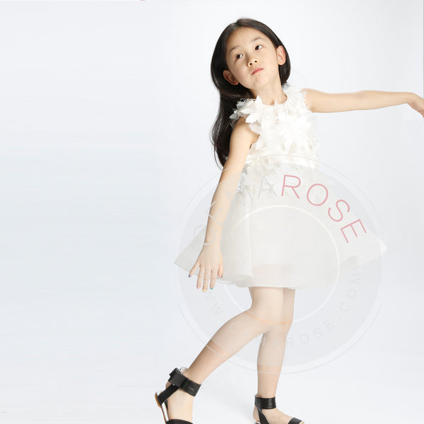 Girls White 'It鈥檚 magic' Dress