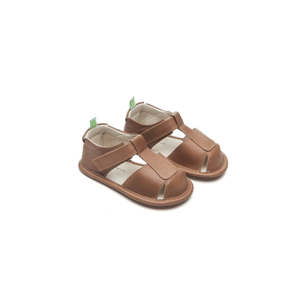 Baby Boys Brown Leather Sandals
