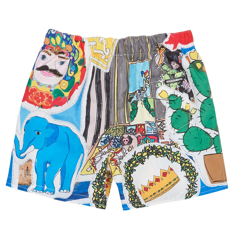 Boys Multicolor Printed Beachwear Short - CÉMAROSE | Children's Fashion Store - 2