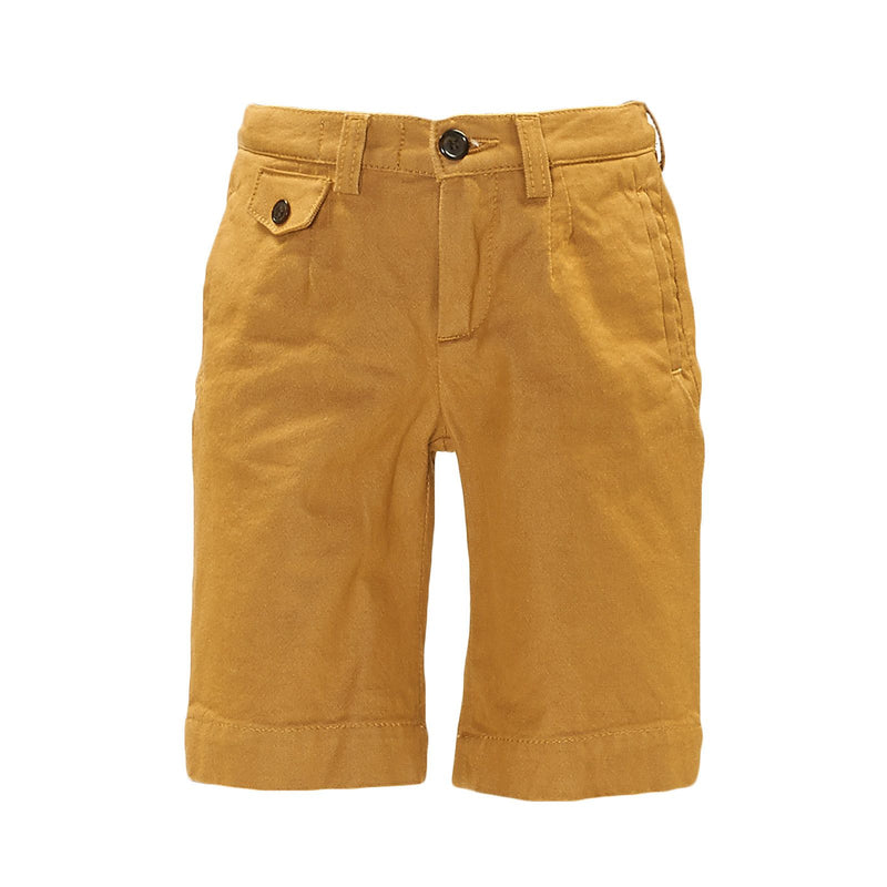 Boys Yellow Cotton Jersey Short - CÉMAROSE | Children's Fashion Store - 1