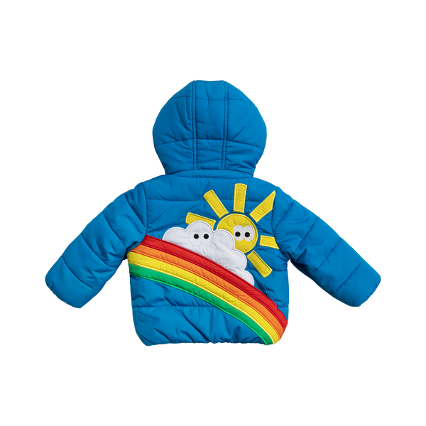 Baby Boys Bright Blue Padded Down Jacket