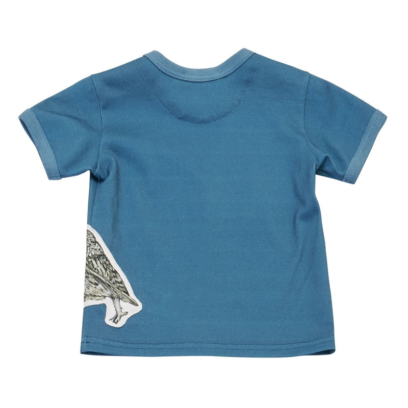 Baby Boys Blue Owls Printed Cotton T-Shirt - CÉMAROSE | Children's Fashion Store - 2