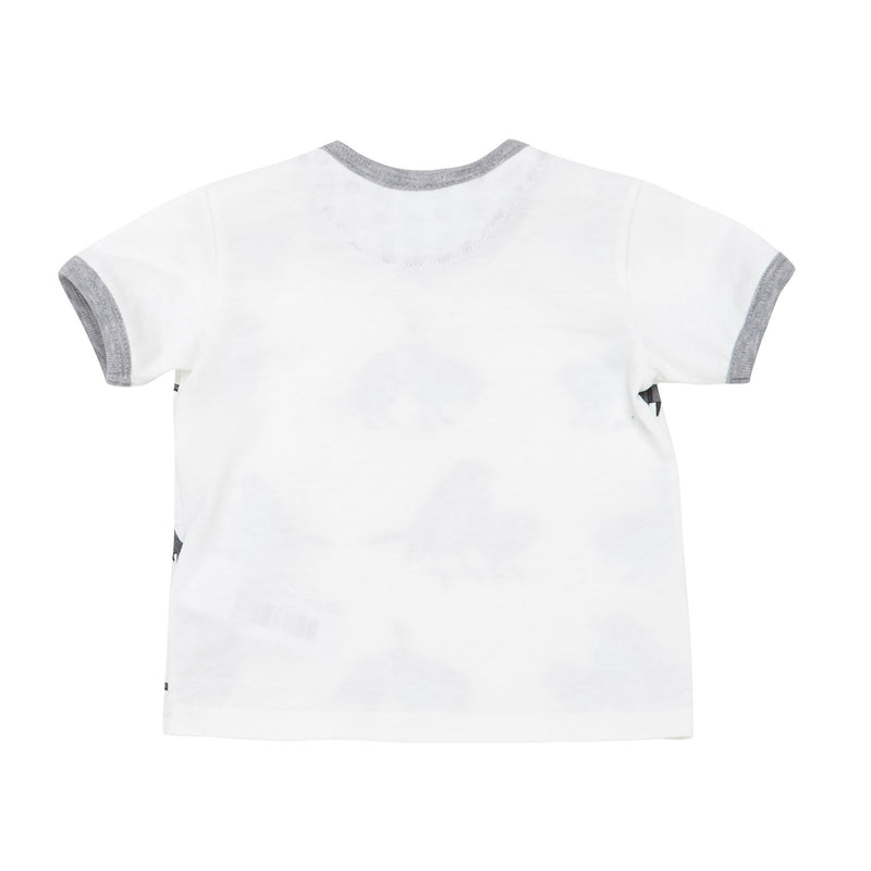 Baby Boys White Birds Printed Cotton T-Shirt With Birds Print Lining - CÉMAROSE | Children's Fashion Store - 2