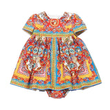 Baby Girls Printed Cotton Dress - CÉMAROSE | Children's Fashion Store - 1