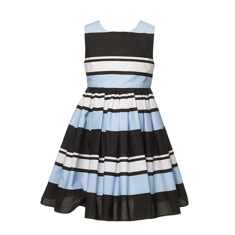Girls Multicolor Stripe Cotton Sleeveless Dress - CÉMAROSE | Children's Fashion Store - 1