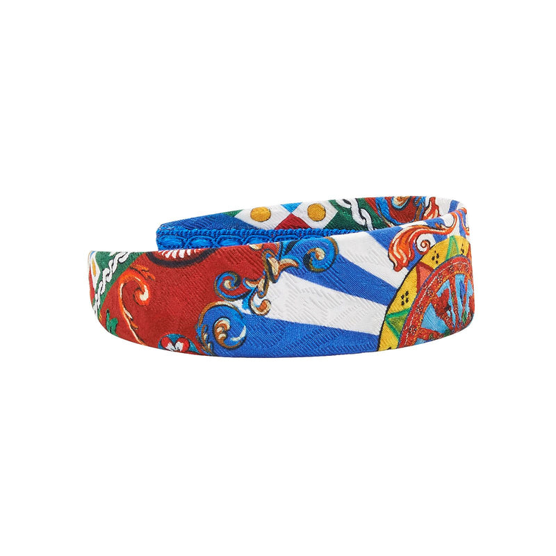 Girls Multicolor Teatro Pupi Printed Hairband - CÉMAROSE | Children's Fashion Store