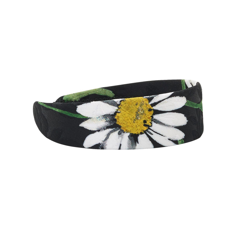 Girls Black Flower Printed Hairband - CÉMAROSE | Children's Fashion Store