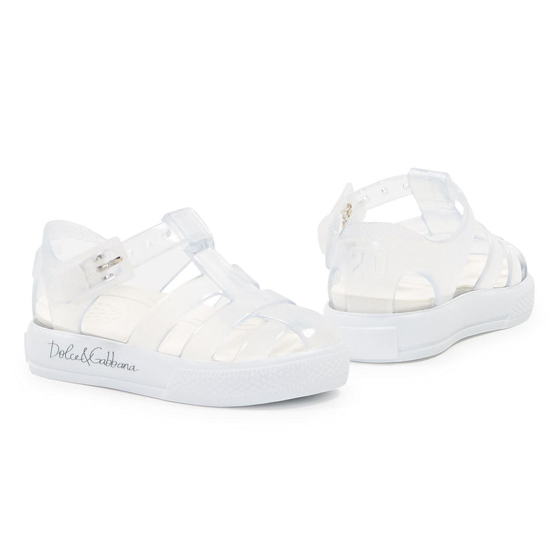 White Beachwear Sandal - CÉMAROSE | Children's Fashion Store