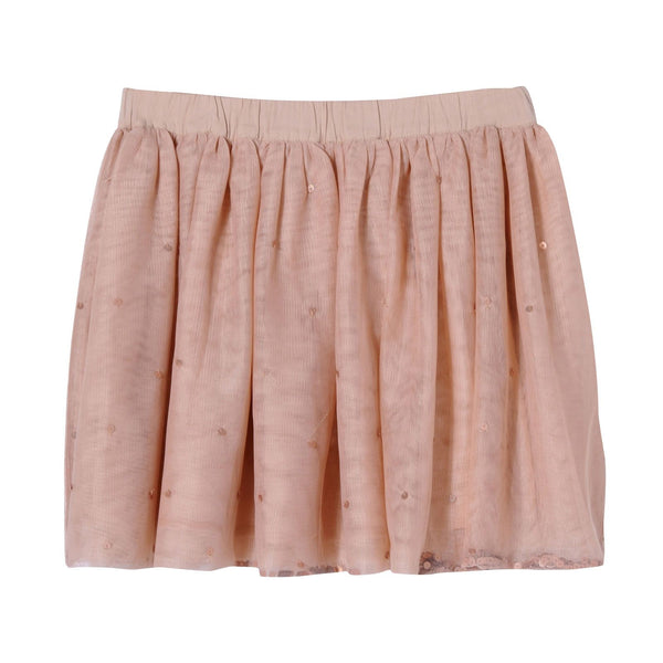 Girls Pink Scattered Sequins Trims Tulle Party Skirt - CÉMAROSE | Children's Fashion Store - 2