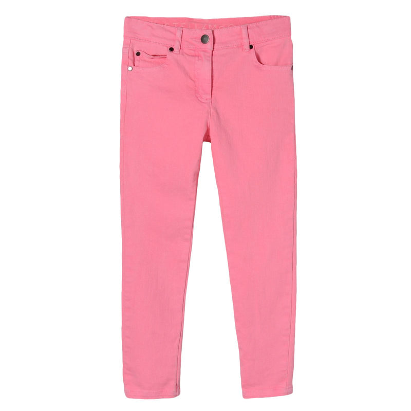 Girls Pink Cotton Jersey Trousers - CÉMAROSE | Children's Fashion Store - 1