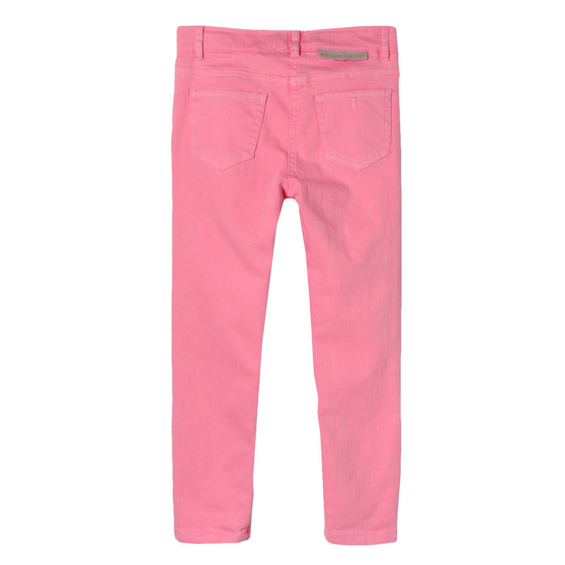 Girls Pink Cotton Jersey Trousers - CÉMAROSE | Children's Fashion Store - 2