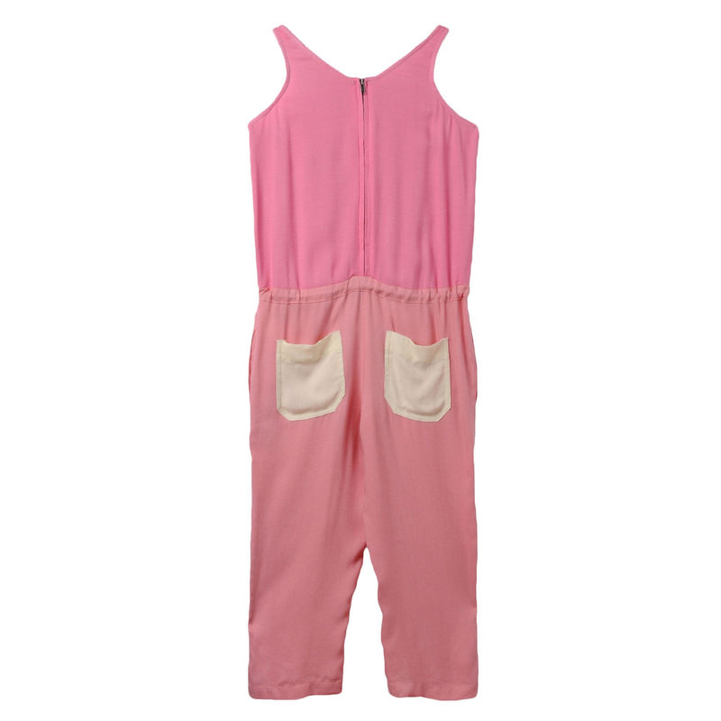 Girls Dark Pink Jumpsuit With Bow Trims - CÉMAROSE | Children's Fashion Store - 2
