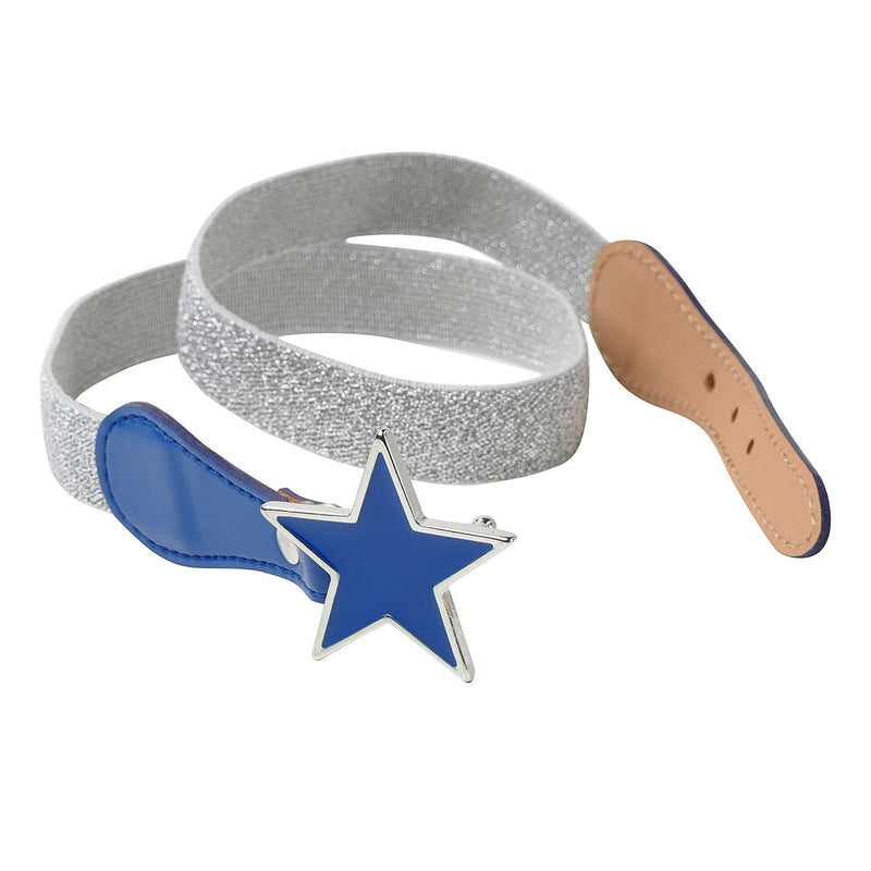 Girls Lurex Silver Belt With Star Trims - CÉMAROSE | Children's Fashion Store - 1