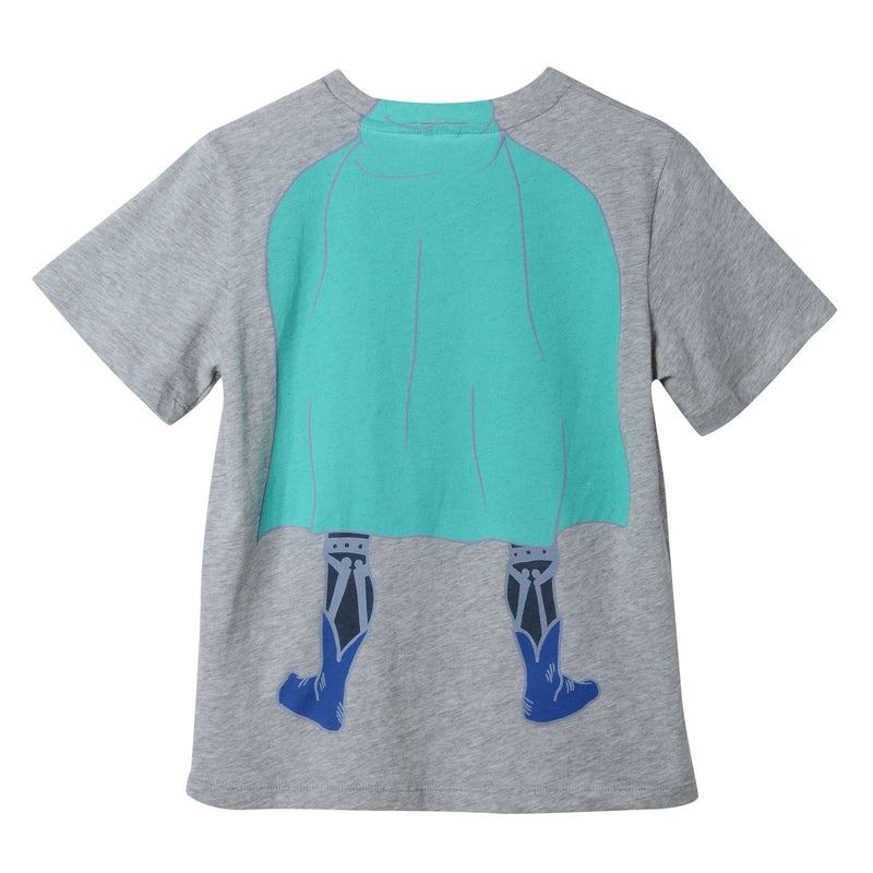 Boys Grey Cotton Superman Printed T-Shirt - CÉMAROSE | Children's Fashion Store - 2