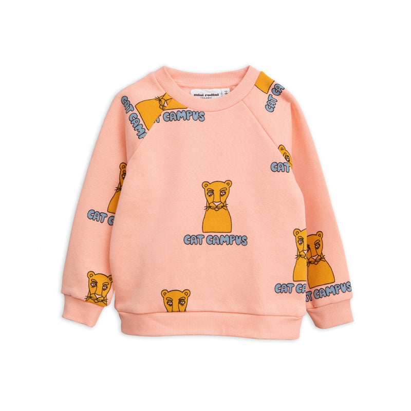 Girls Orange Organic Cotton Sweatshirt