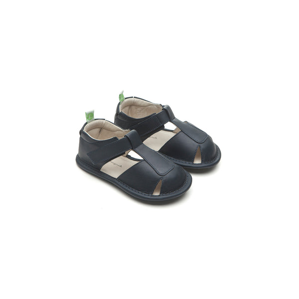 Baby Boys Navy Leather Sandals