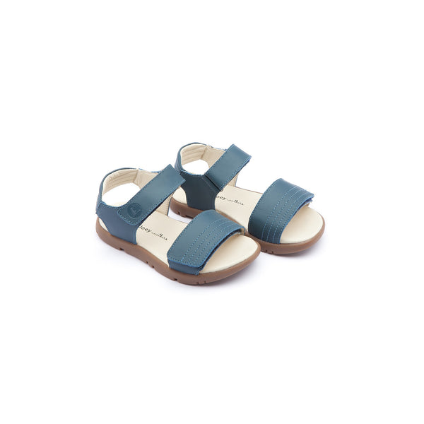 Baby Boys Lake Blue Leather Sandals